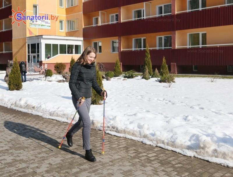 Санатории Белоруссии Беларуси - санаторий Лесные озера - Ходьба скандинавская