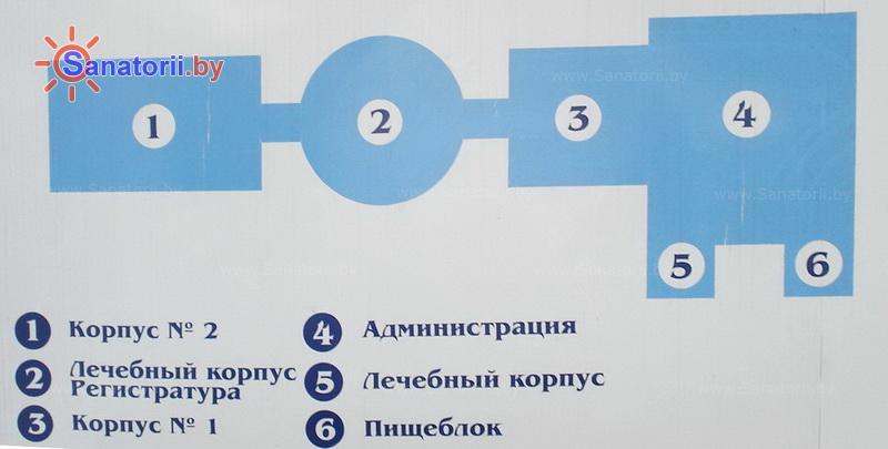 Санатории Белоруссии Беларуси - санаторий Нарочь - Схема расположения объекта