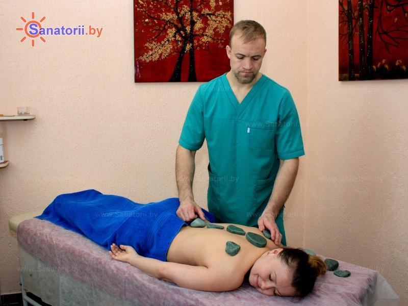 Санатории Белоруссии Беларуси - санаторий Нарочь - Стоунтерапия (массаж камнями)