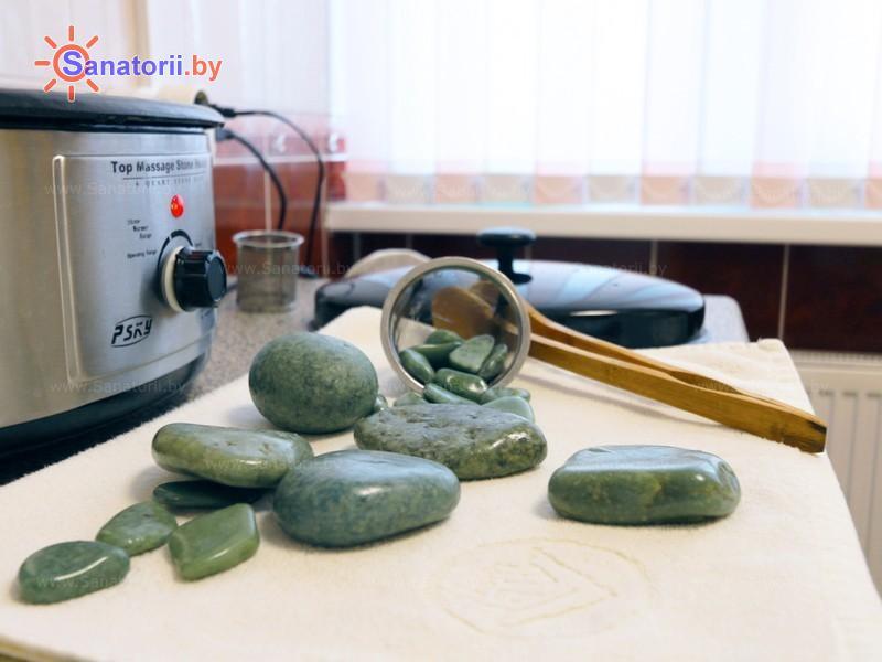 Санатории Белоруссии Беларуси - санаторий Солнечный берег - Стоунтерапия (массаж камнями)