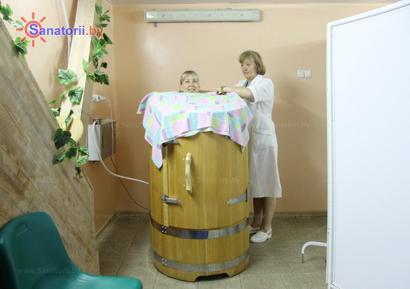Санатории Белоруссии Беларуси - санаторий Серебряные ключи - Сауна-мини Кедровая бочка