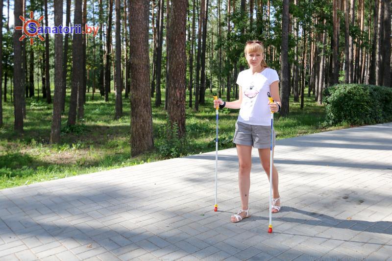 Санатории Белоруссии Беларуси - оздоровительный центр Талька - Ходьба скандинавская