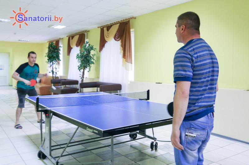 Санатории Белоруссии Беларуси - санаторий Шинник - Теннис настольный
