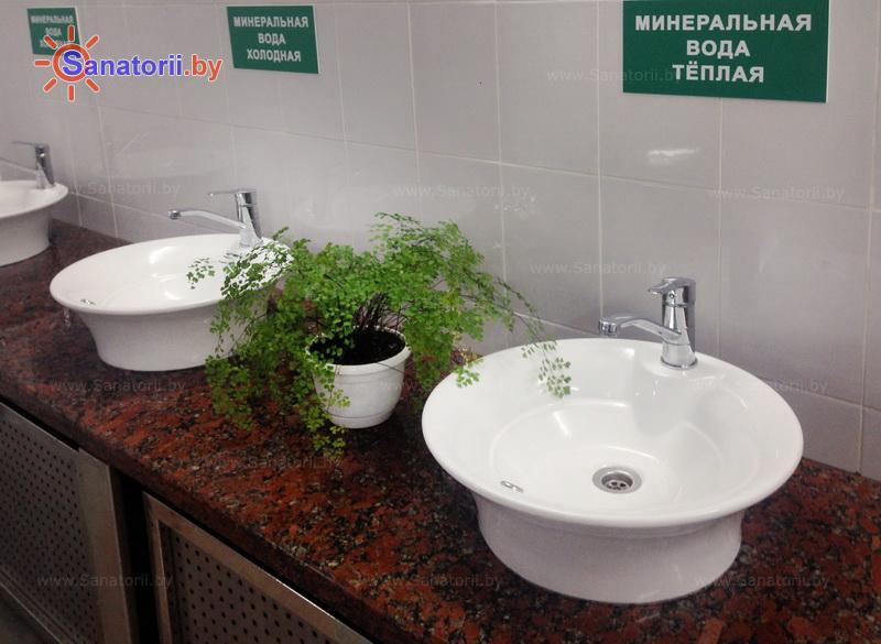 Санатории Белоруссии Беларуси - санаторий Железнодорожник - Бювет минеральной воды