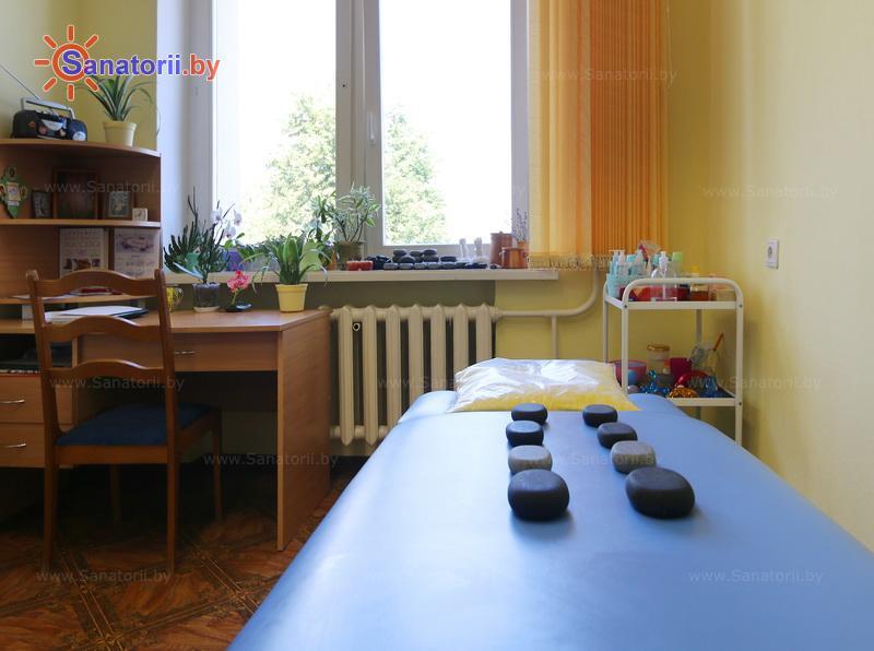 Санатории Белоруссии Беларуси - санаторий Гомельского отд. БЖД - Стоунтерапия (массаж камнями)