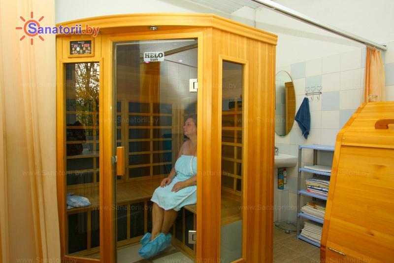 Санатории Белоруссии Беларуси -  Центр медицинской реабилитации и бальнеолечения - Сауна инфракрасная