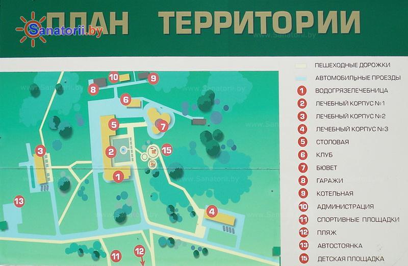 Санатории Белоруссии Беларуси - санаторий Боровое - Схема расположения объекта