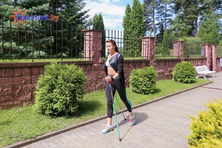 Санатории Белоруссии Беларуси - санаторий Веста - Ходьба скандинавская