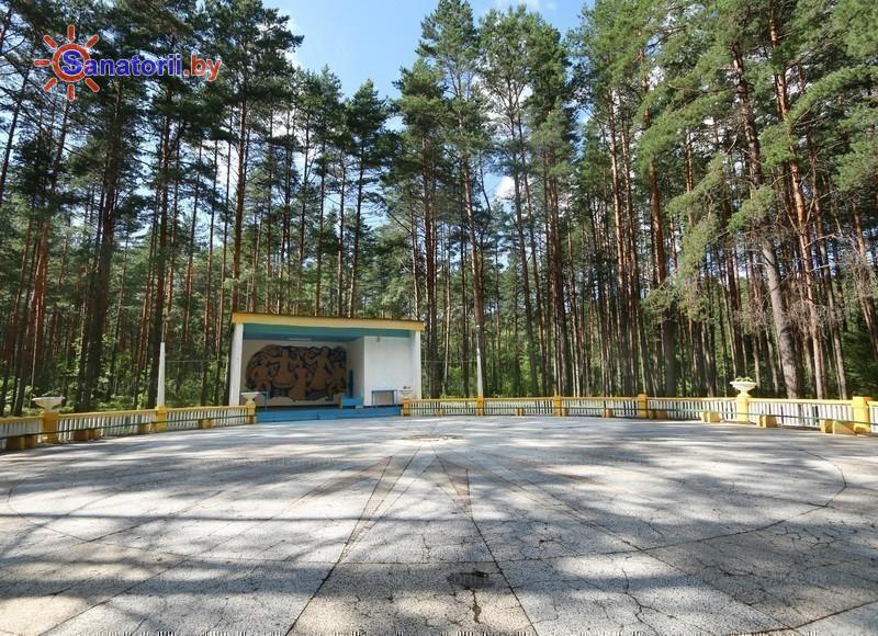 Санатории Белоруссии Беларуси - санаторий Нарочанский берег - Танцплощадка летняя