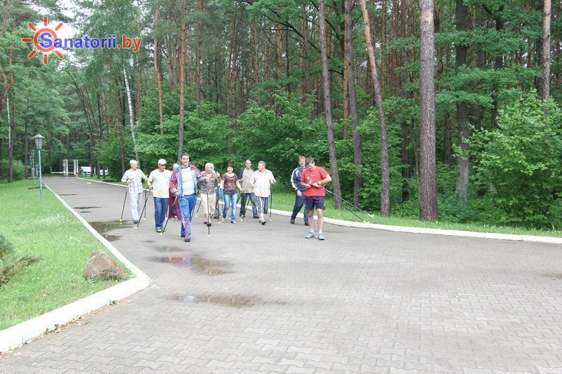 Санатории Белоруссии Беларуси - санаторий Подъельники - Ходьба скандинавская