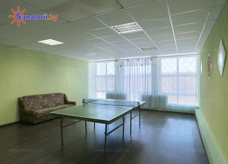 Санатории Белоруссии Беларуси - санаторий Рудня - Теннис настольный