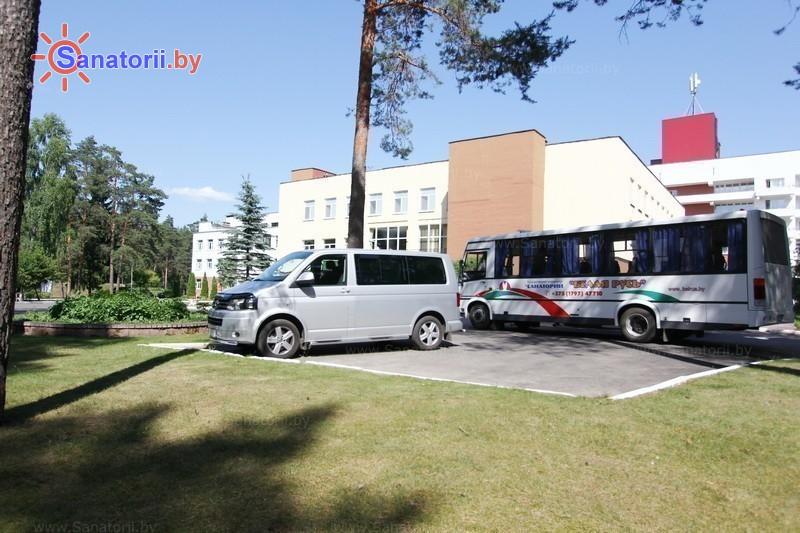 Санатории Белоруссии Беларуси - санаторий Белая Русь - Автостоянка