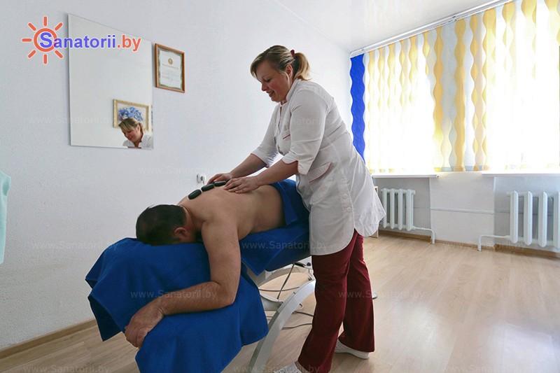 Санатории Белоруссии Беларуси - санаторий Белая Русь - Стоунтерапия (массаж камнями)