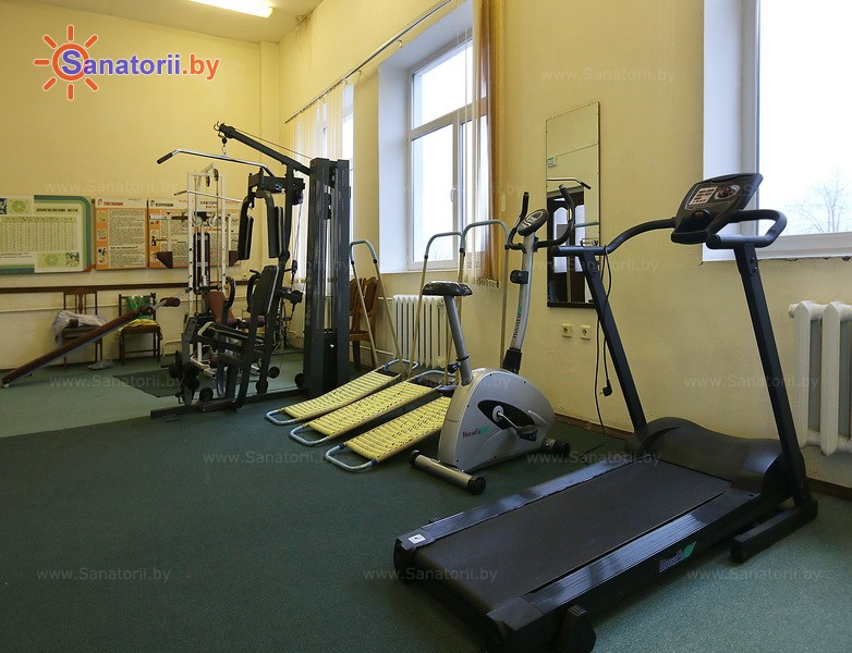 Санатории Белоруссии Беларуси - санаторий Нарочь - Тренажерный зал (механотерапия)