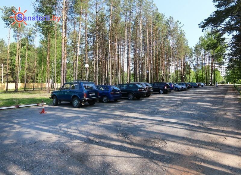 Санатории Белоруссии Беларуси - санаторий Приднепровский - Автостоянка