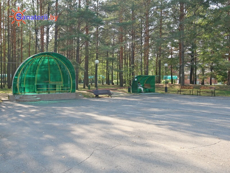 Санатории Белоруссии Беларуси - санаторий Приднепровский - Танцплощадка летняя