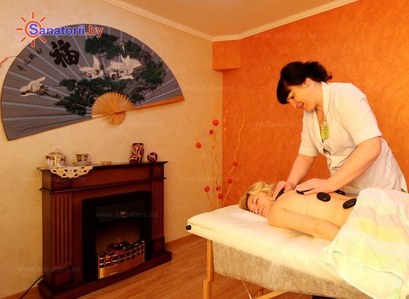 Санатории Белоруссии Беларуси - санаторий Сосновый бор - Стоунтерапия (массаж камнями)