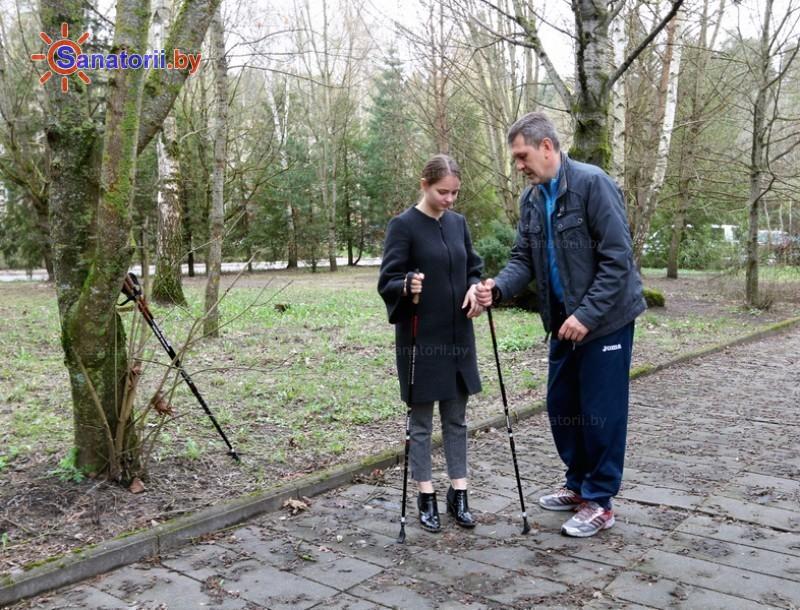 Санатории Белоруссии Беларуси - санаторий Пралеска - Ходьба скандинавская