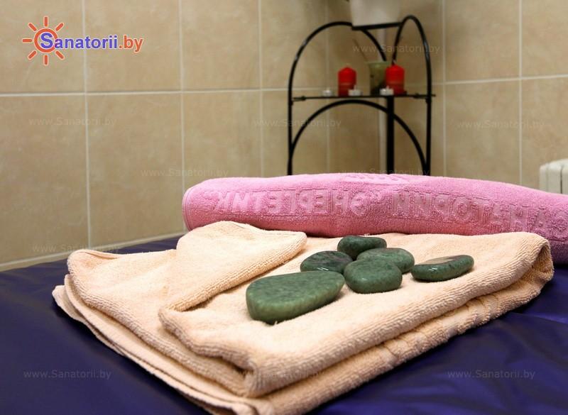 Санатории Белоруссии Беларуси - санаторий Энергетик - Стоунтерапия (массаж камнями)