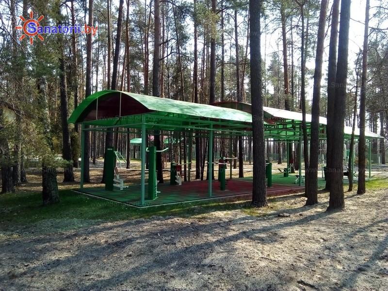 Санатории Белоруссии Беларуси - санаторий Свитанок - Уличные тренажеры