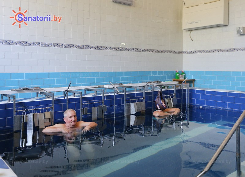 Санатории Белоруссии Беларуси - санаторий Гомельского отд. БЖД - Вытяжение позвоночника подводное