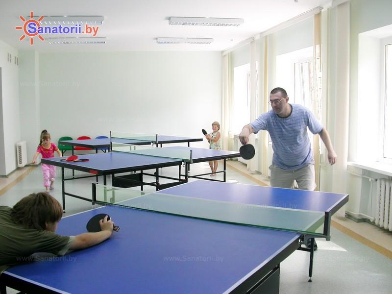 Санатории Белоруссии Беларуси - санаторий Солнечный - Теннис настольный