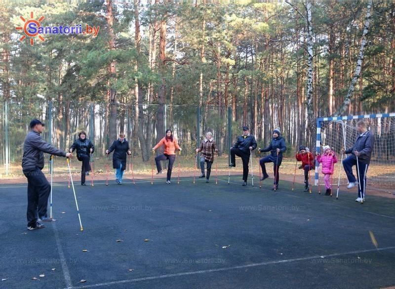 Санатории Белоруссии Беларуси - санаторий Солнечный - Ходьба скандинавская