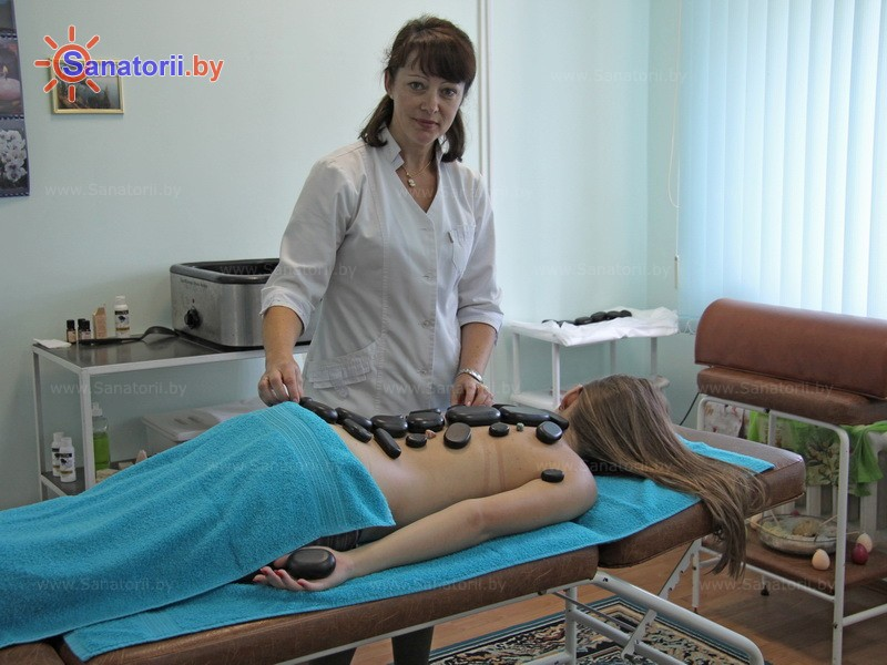Санатории Белоруссии Беларуси - ДРОЦ Жемчужина - Стоунтерапия (массаж камнями)