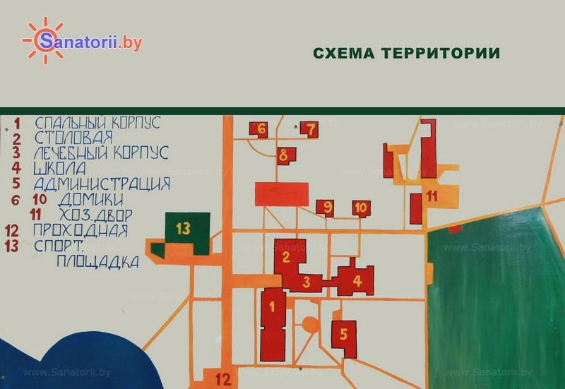 Санатории Белоруссии Беларуси - детский санаторий Солнышко - Схема расположения объекта