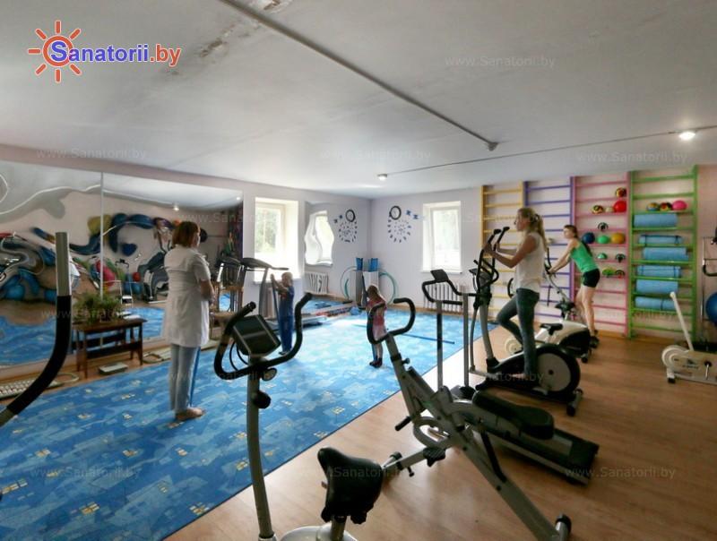 Санатории Белоруссии Беларуси - детский санаторий Солнышко - Тренажерный зал (механотерапия)
