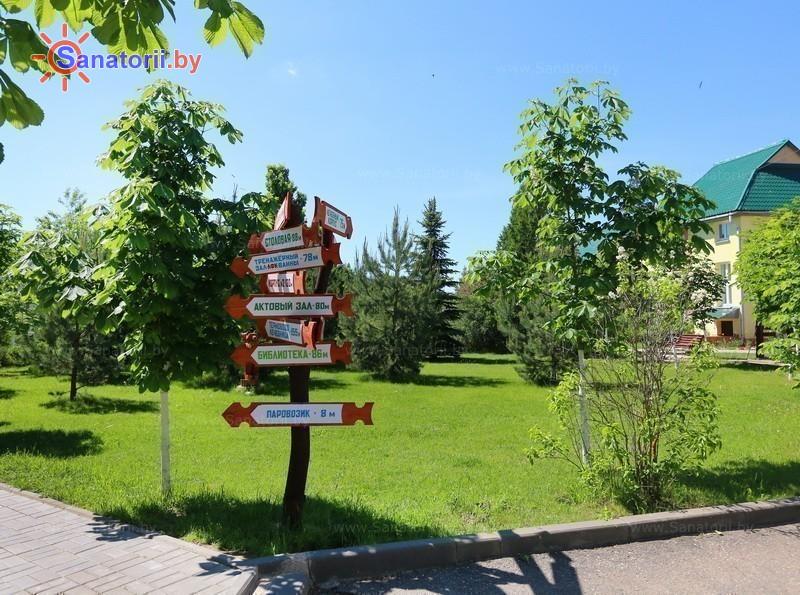 Санатории Белоруссии Беларуси - детский санаторий Росинка - Территория и природа