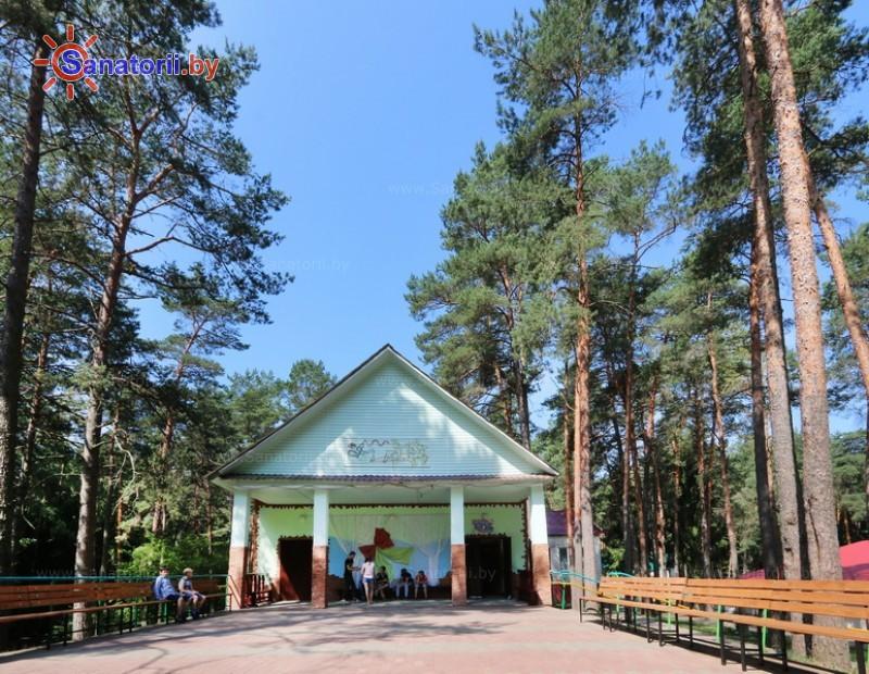 Санатории Белоруссии Беларуси - детский санаторий Налибокская пуща - Танцплощадка летняя
