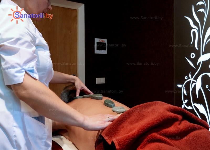 Санатории Белоруссии Беларуси - санаторий Алеся - Стоунтерапия (массаж камнями)