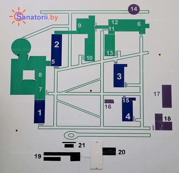 Санатории Белоруссии Беларуси - санаторий Буг - Схема расположения объекта