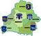Карта Беларусі